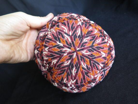 Turkmenistan Turkmen Tekke Silk Embroidered on Sil