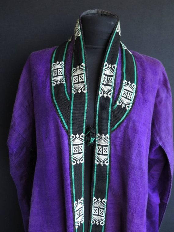 Antique Uzbek Silk Robe & Cloak - Free Shipping