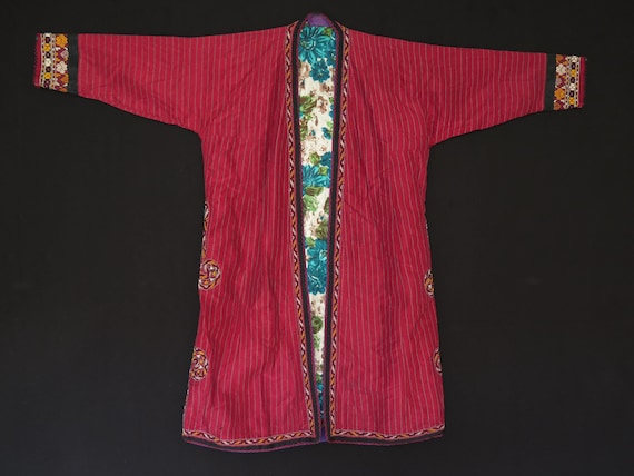 With Turkmen UPS Traditional Vintage Free Chapan Coat Shipping xYnF5wqRC