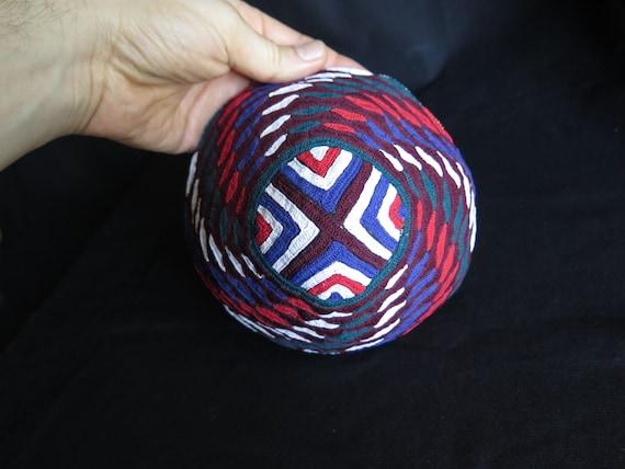 Turkmen Tribal Silk Embroidered Hat & Skull Cap -
