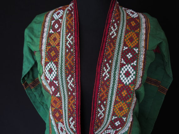 Antique Turkmen Coat /& Jacket with Silk Embroidery Free Shipping