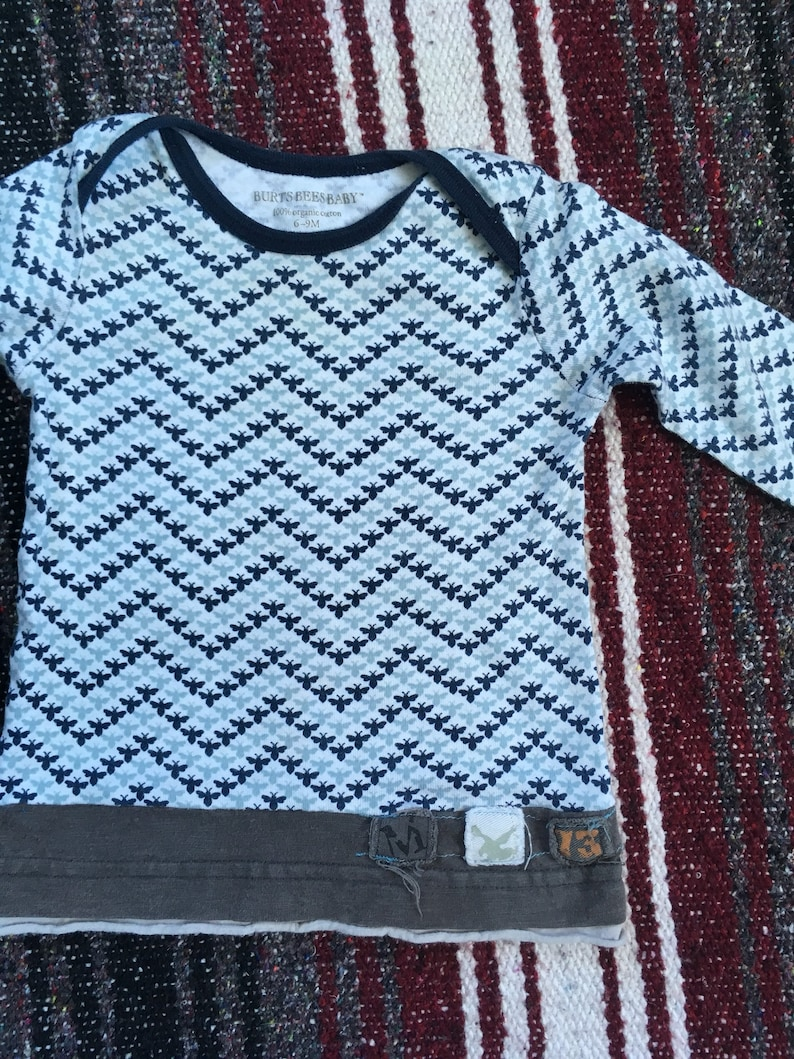 12 Months 2-pack Upcycled Long Sleeve Baby Boy Shirts