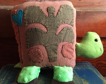Tookie The Turtle- Upcycled Stuffed Animal