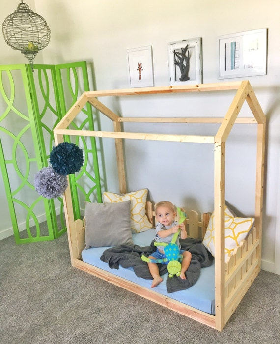 Toddler House Bed Frame Picket Fence Made In US