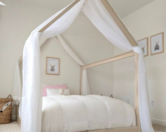 Full Size House Bed Frame + mattress slats Made in US