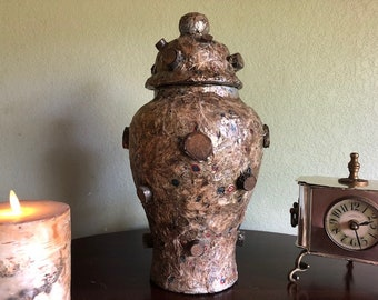 FULLNESS, a Unique, One-of-a-Kind, Full Size, Ceramic Cremation Urn for Human or Pet Ashes