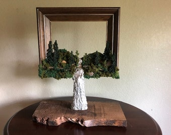 PEACEFUL VALLEY, Unique, One-of-a-Kind Table Art and Photo Frame