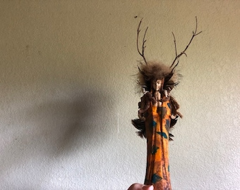MEDICINE WOMAN, a Unique, One-of-a-Kind Ceramic Keepsake Cremation Urn for Human or Pet Ashes
