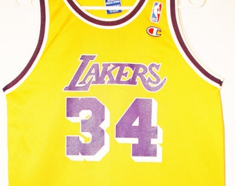 Champion NBA basketball jersey jersey Los Angeles Lakers Shaquille ONeal 36  XS 103cc1307