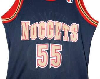 Champion NBA basketball Denver Nuggets Dikembe Mutombo jersey jersey 40 m 279dd595a