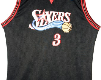 Trikots Schnelle Lieferung Champion Nba Basketball Trikot Jersey Philadelphia 76ers Allen Iverson 52 Xxl