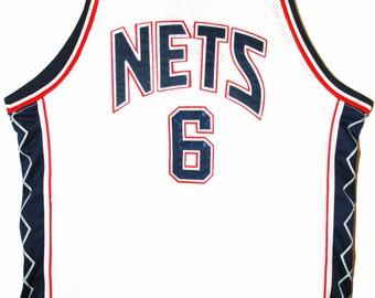 Champion NBA basketball New Jersey Nets Martin authentic Jersey Jersey 52 XXL