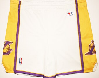 Champion NBA basketball Los Angeles Lakers short shirt Jersey S