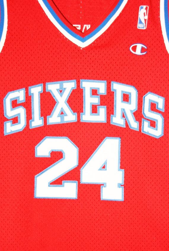 Champion NBA basketball Philadelphia 76ers Jersey Bobby Jones Jersey 76ers Jersey 36 S 8a5b54