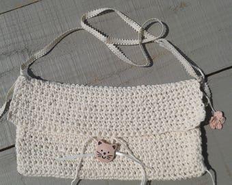Nice bag ecru crochet