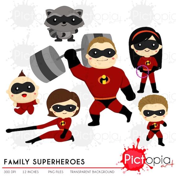 Famille Super Héros Clipart Couleur Solide Héros Clip Art Super Héros Png Héros équipe Clip Art Instant Download