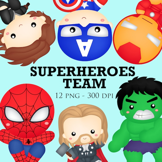Super Team Clip Art