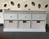 Elegant White Cream Storage Bench Toybox Nursery Furniture Shoe Window Hallway Seat Bedroom Furniture