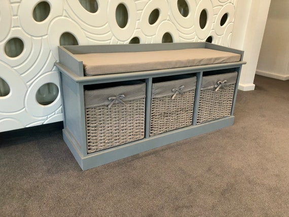 Amazing Grey Classy Vintage Shoe Storage Bench Window Seat Hallway Furniture Ottoman Machost Co Dining Chair Design Ideas Machostcouk
