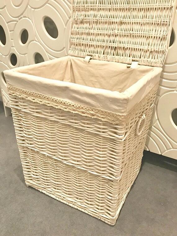 . New Large White Laundry Basket Bathroom Bedroom Storage Clothes Bag Basket  Bin