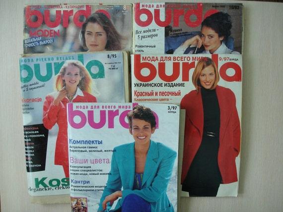 Burda Moden Magazin Fashion Burda-Muster Burda Style Nähen | Etsy