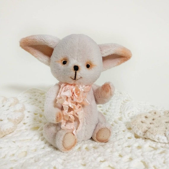 Teddy Fox Plush Fox Desert Fox Stuffed Toy Animal Fennec Etsy