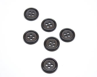 B0005 | Recycled buttons | Vintage buttons recovered on piece of clothes | Think green, use recycled materials
