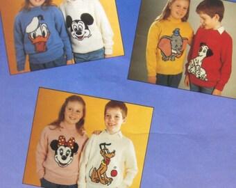 vintage Walt Disney JUMPERS knitting pattern