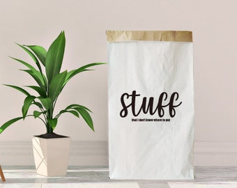Sac de trucs rangement papier, sac de rangement papier, papier organiser sac, sac à linge, rangement, organiser bin, rangement en tissu, sac de rangement