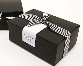 Black Gift Box Etsy