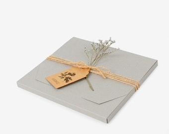 5 Envelope gift boxes, gift box, flat gift box, photo gift box, wedding favor box, wedding invitation box, flat photo box, handkerchief box