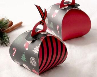 5 Christmas theme gift box, Christmas gift box, small gift box, Christmas party, holiday gift box, holiday merchandise box, Christmas