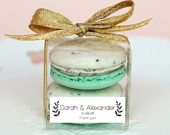 10 Sets of wedding clear macaron packaging, macaron box, wedding favor, macaron favor, macaron gift, bridal shower, baby shower, macaron