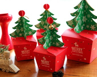 3 small christmas tree boxchristmas gift boxchristmas wrappingchristmas treechristmas favor boxchristmas party boxchristmas gift - Decorative Christmas Gift Boxes With Lids