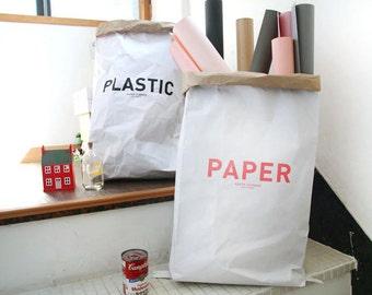 PAPER/STUFF/PLASTIC paper storage bags, large paper storage bags, cute paper storage bag,craft storage bag, plastic storage, roll storage
