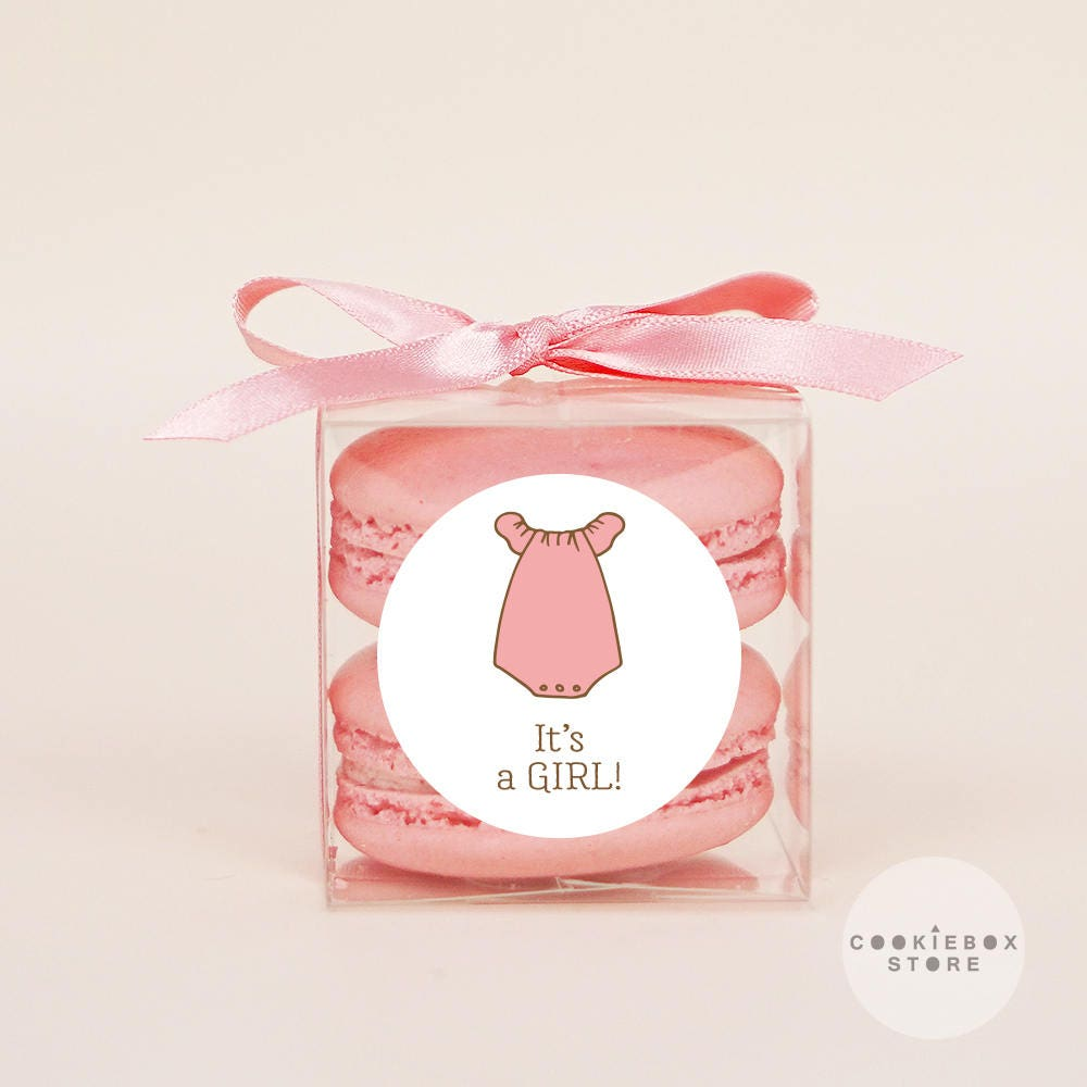 10 Sets of baby shower clear macaron packaging macaron box
