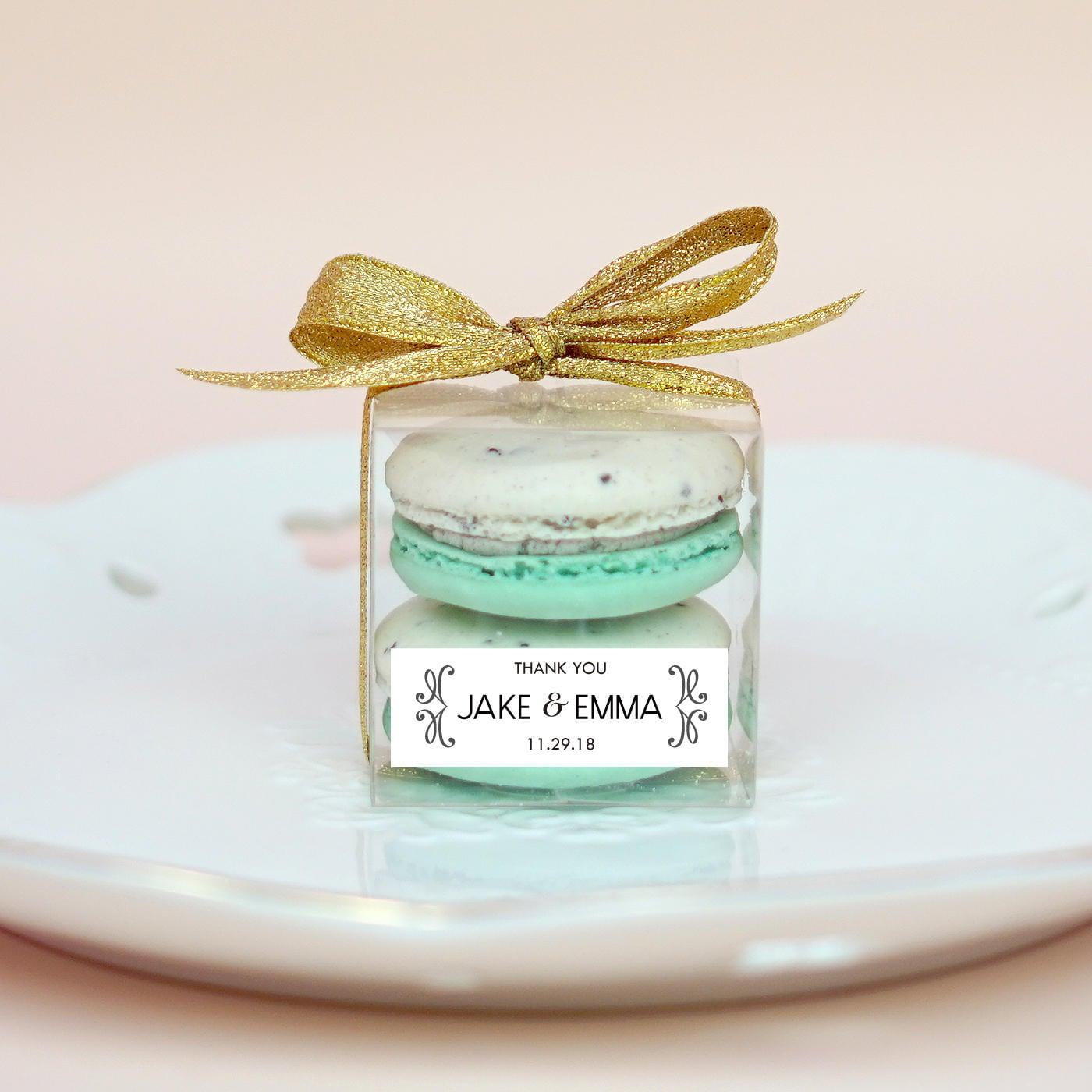 10 Sets of wedding clear macaron packaging, macaron box, wedding ...