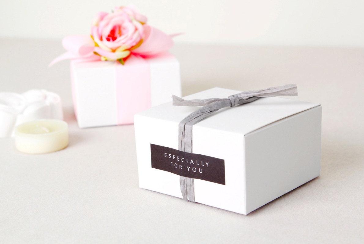 6 White mini gift box, white favor box, small gift box, white gift ...