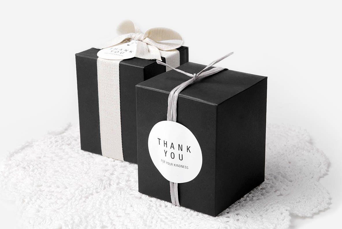 4 small black gift boxes,black box,black favor box,small favor box ...