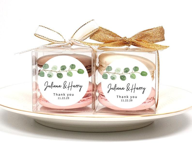 macaron box wedding favor macaron gift 10 Sets of wedding clear macaron packaging bridal shower macaron macaron favor baby shower
