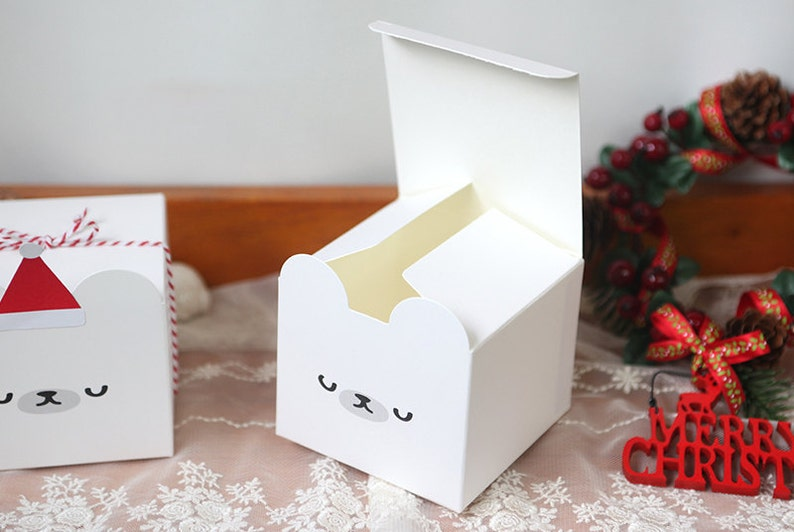 10 White Bear Gift Boxes Cute Bear Favor Box Bear Baby Shower Favor Box Baby Shower Gift Box Cute Baby Shower Gift Box Cute Character Box