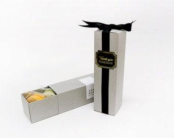 10 Gray long boxes, macaron box, gift box, candy box, cookie box, cute gift box, candle box, macaron gift box, wedding favor box, gifts