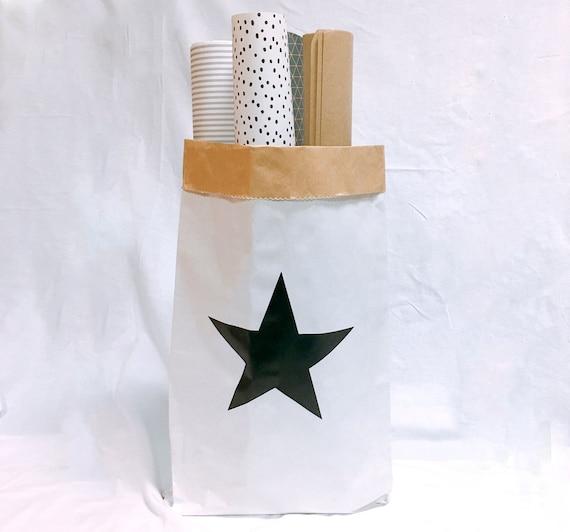 Star Small Storage Paper Bagpaper Storage Bagpaper Bagtoy   Etsy