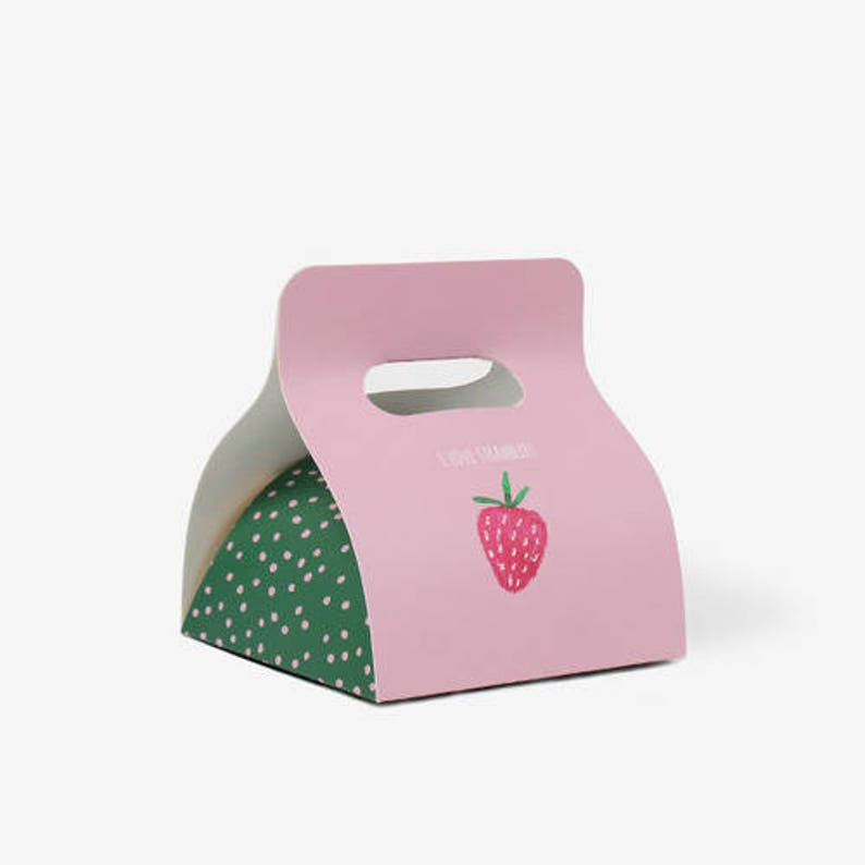 5 Strawberry Gift Box Cute Birthday Party