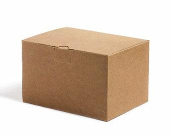 5 rectangle simple Kraft boxes,kraft gift box,kraft wedding favor box,plain kraft box,gift,kraft favor box,medium size kraft box,kraft