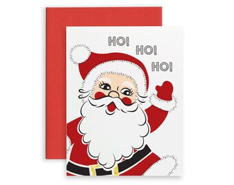 Santa Claus Card Etsy