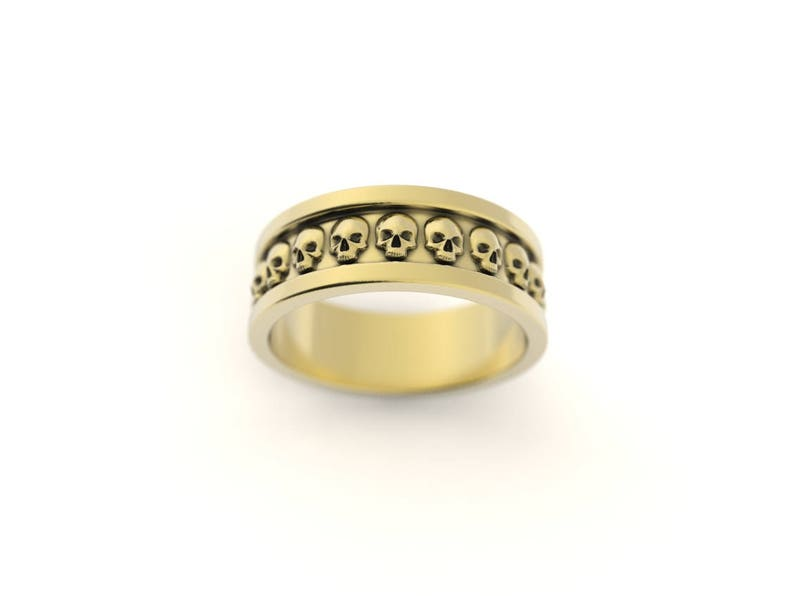 5c1ed500c90e86 Skull wedding ring skull ring men skull ring women gothic   Etsy