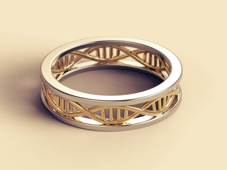 dna ring dna wedding ring geek wedding ring microbiology image 0
