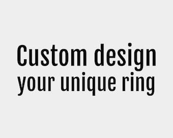Custom made jewelry, custom engagement ring, unique engagement ring, geek engagement ring, geek wedding ring
