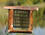 Suet Bird Feeder handmade from reclaimed wood Item - rustic style, live edge, perfect for your cabin, lake house or backyard